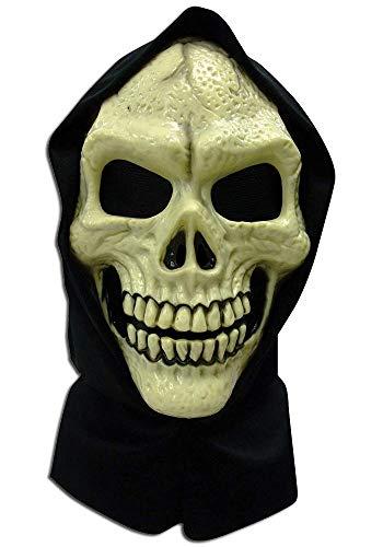 Mr.Giggelz Halloween Totenkopf hautfarbende Maske