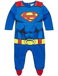 Pyjama avec cape bébé costume Superman Bleu/rouge de 3 à 24mois