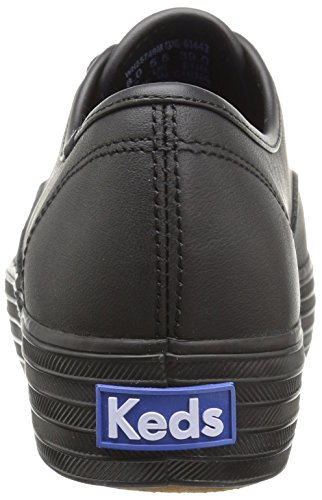 Keds Triple Leather, Scarpe Running Donna Nero (Black/black)