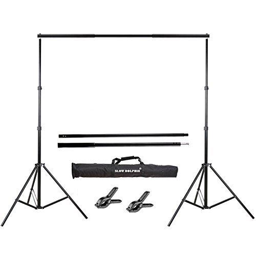 Slow Dolphin Foto Video Studio 10ft Einstellbar Hintergrund Support System Stehen, mit Hintergrund Holder Kit und Hintergrund Halterungen Dolphin Papier