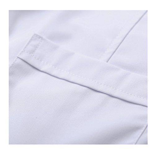 Kurzarm lange abschnitt weiß kittel ärzte krankenschwestern bekleidung arbeitskleidung arbeit (damen, M) - 3