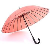 BBSLT Ombrelloni da manuale 24, acqua fiore solido gancio ombrello creativo color caramella femminile letteraria pulito lungo ombrello , rubber powder