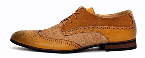 Hommes Brogue élégant Chaussures De Bureau Décontracté Robe Mariage Fête UK taille Marron