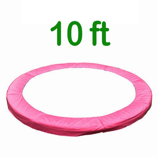 Greenbay 10FT Replacement Trampoline Surround Pad Foam Safety Guard Spring Cover Padding Pads Pink