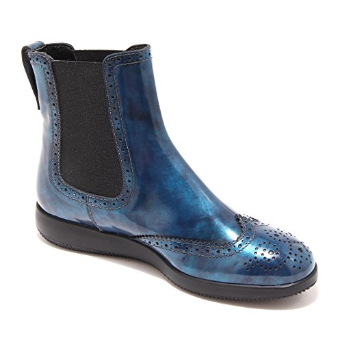 4858G stivaletto beatles donna blu HOGAN h 209 dress xl polacco elastico bucatur Blu