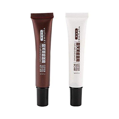 Narbe Tattoo Concealer wasserdicht schnelle Färbung Versteckte Flecken Muttermale Creme langlebige professionelle Abdeckung Creme Make-up...