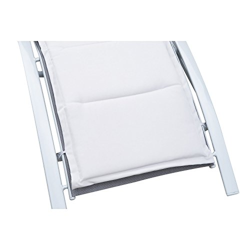Outsunny Sonnenliege Gartenliege Gartenstuhl Relaxsessel Liegestuhl Aluminium, grau - 6