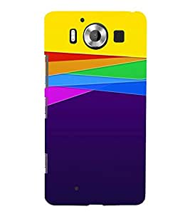 TRICOLOURED PATTERN OF A VINTAGE SKETCH 3D Hard Polycarbonate Designer Back Case Cover for Nokia Lumia 950 :: Microsoft Lumia 950