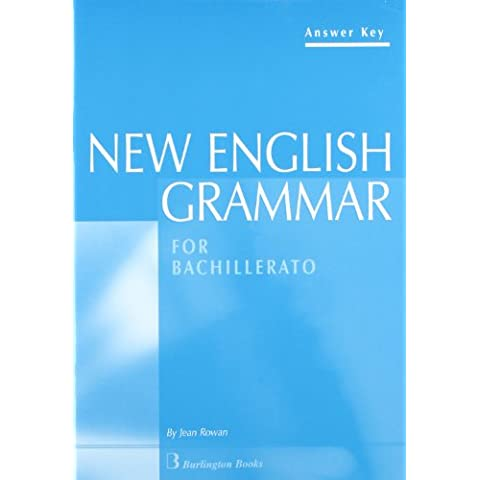New English Grammar With Answer Key For Bachillerato 1
