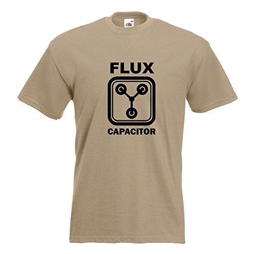 KIWISTAR - Flux Capacitor T-Shirt in 15 verschiedenen Farben - Herren Funshirt bedruckt Design Sprüche Spruch Motive Oberteil Baumwolle Print Größe S M L XL XXL Khaki