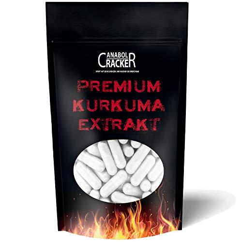 500 Kapseln Premium Curcuma - Kurkuma Extrakt Kapseln Hochdosiert 600mg, mit Biologischem Schwarzem Pfeffer, Für Vegetarier & Veganer geeignet