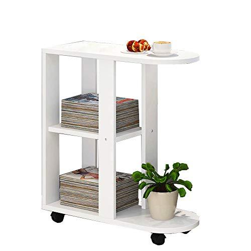 Tables HAIZHEN Pliable d'appoint Petite Basse rectangulaire Meuble latéral Mobile () Stations de Travail informatiques (Couleur : A)