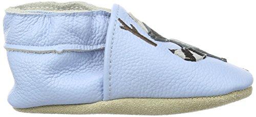 Rose & Chocolat Doggy bébé garçon Tapis D'éveil Chaussures Blau (Rocky Racoon Light Blue)