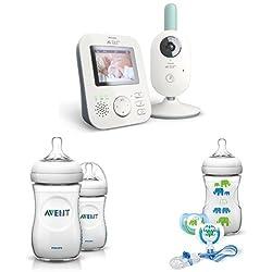 Philips Avent SCD620 Videophone Starter Set für Jungen, inkl.Flaschen u. Schnullerset