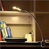 Creative pulsante stile tatuaggio bellezza studio lavoro tubo usb LED piccola lampada da tavolo lettura protezione degli occhi con clip nera