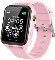 PTHTECHUS kids Smartwatch Phone per Bambini, Orologio Intelligente Bambini con 7 Giochi Musica MP3 Torcia elet