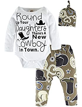 BIG ELEPHANT Baby Boys'oder Girls 'Graphic Langarm Hosen Kleidung Set mit Hut H94A