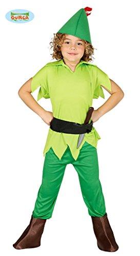 Guirca Peter_Pan Costume Arciere-Robin Hood-Bambini 7/9 Anni 140/158, Colore Verde, 7-9, 82742