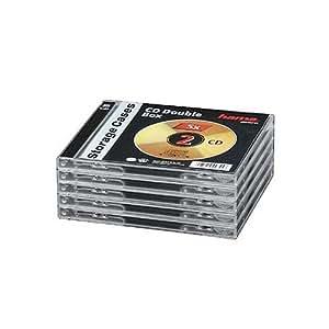 Hama Boîtiers Vides Transparents Fond Noir - Boîtiers Double CD - 00044745
