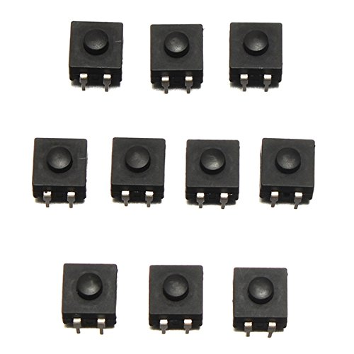 ROUHO 10 Stücke Dip PCB Mini Verriegelung Tactile Tact Push Button Schalter 12x12x9Mm - Lcd-verriegelung Kit