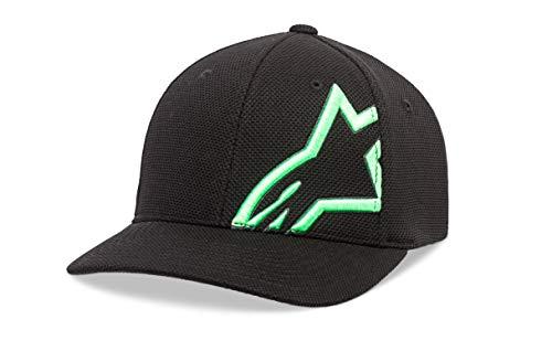 lexfit Cap technische mesh, gewölbtes Visier, STR, Black/Green, S/M, 1019-81104 ()