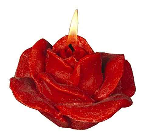 Klaner Kerzen Rosen Kerze groß (1 Stück, rot)