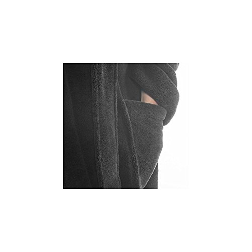 Accappatoio Donna CelinaTex Miami, Poliestere, creme weiß grau, Small Schwarz Anthrazit