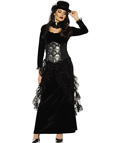 28d15080368 Underwraps Dark Mistress Womens Gothic Victorian Witch Halloween Costume-M  Medium