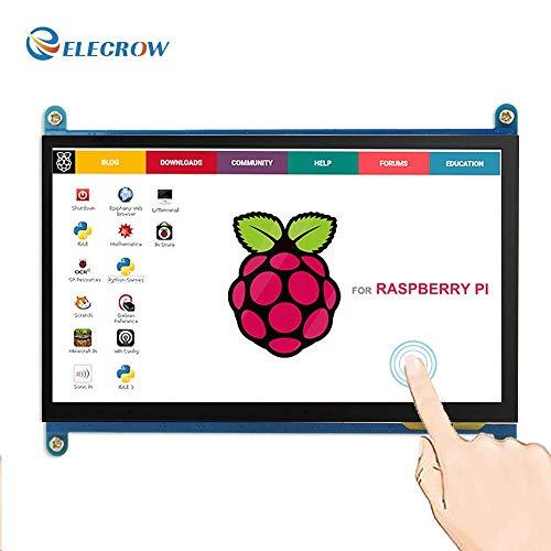 Monitor Display Anzeigen IPS Bildschirm-7 Zoll 1024X600 HD TFT LCD mit Touchscreen für Himbeere Raspberry Pi B + / 2B Raspberry Pi 3 Windows 10/8.1/8/7 (Raspberry Pi-touchscreen-lcd)