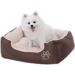 SONGMICS Cómodo Casa para Mascotas, Cama para Perros Perrera Gato del Perro De Perrito Sofa House Bed S Dimensiones externas: 60 x 48 cm PGW02Z