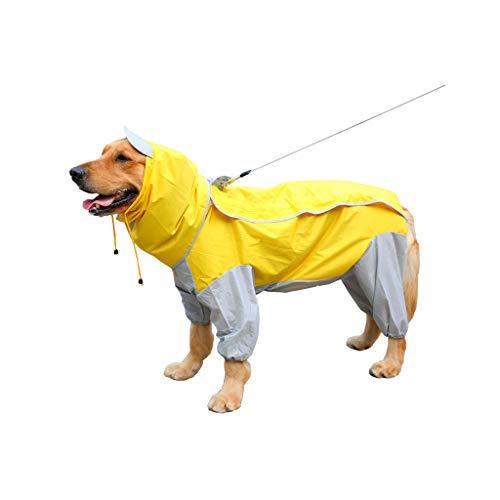 Pet Raincoat-GHJ Haustier-Regenmantel, Wasserdichte Jacke mit Hut für mittleren großen Hund (größe : #1)