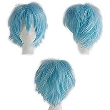 Amazon It Parrucca Azzurra Corta