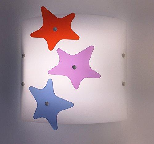 Aplique lámpara de pared pared estrella para habitación dormitorio niño niña infantil