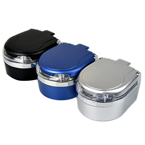 XZANTE Portable in Auto Fahrzeug Zigarette Rauch LED Licht Aschenbecher Asche Halter Eimer Cup (Zigaretten Asche Eimer)