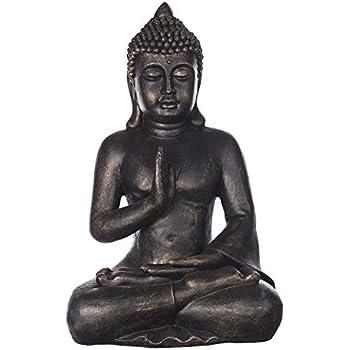 dszapaci buddha statue gro 65cm sitzend deko figur f r wohnzimmer skulptur xl. Black Bedroom Furniture Sets. Home Design Ideas