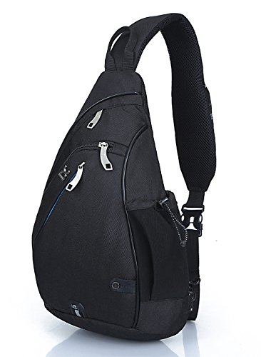 FREEMASTER Sport-Rucksack, Schultertasche, für Wandern, Camping, Radfahren, Schule, klein (Schwarz)
