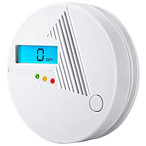 Pictek Carbon Monoxide Detector Battery Operated CO Alarm with Sound and LED Warning Fire Safety LCD Digital Display for House, Kitchen, Bedroom, Living Room.etc