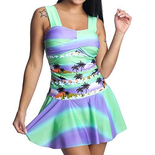 Lady Tankini Badeanzug Beachwear Gepolsterte Bademode Plus Size Biki ()