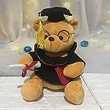 ahzha Peluche Giocattoli Creativo Dr. Bear Doll Scodoll Laurea Stagione Regalo 18cm Un