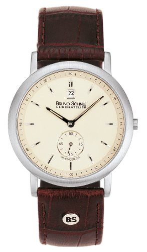 Bruno Söhnle Herren Analog Quarz Uhr mit Leder Armband 17-13036-141