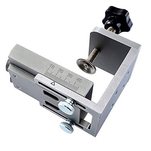 Asdomo Pocket Hole Jig Kit mit 9 mm Stufenbohrer, Holzdübel, Jig, Bohrung, Führungslochsucher, Werkzeug für Zimmerei, grau