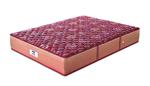 Peps Springkoil Bonnell 6-inch Single Size Spring Mattress (Maroon, 72x36x06) With Free Pillow Image 3