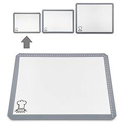 Backefix Silikon Backmatte Silikon Backunterlage wiederverwendbare Silikonmatte – ohne Backpapier und Fett backen (40x30cm)