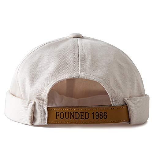 eb586c7831e1b Clape Senza Orlo Docker Leon Beanie cap New Urban Style Rolled Cuff Retro  Worker Sailor cap