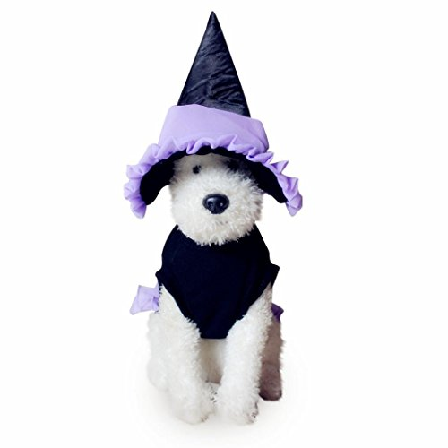JIANGFU Halloween-Haustierkleidung,Haustier-Halloween-Katze-Kleidung-Welpen-Verkleidung Hund Partei Kleidung Plus-Hut (Keks Hund Der Kostüm)