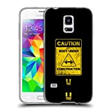 Head Case Designs Caution Fitness Motivation Soft Gel Hülle für Samsung Galaxy S5 Mini