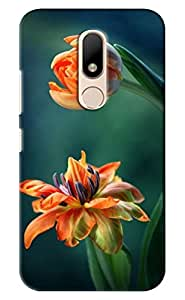 Motorola Moto M Flower print hard high quality mobile Back Cover Case best colour and best fitting cover and this is very popular mobile cover (NO-1 Seller in Amazon)