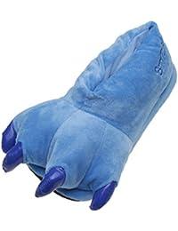 chaussures Chaussons unisex adulte/enfant pantoufles animaux patte bleu S(35-40)
