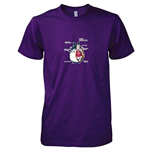 atomy - Herren T-Shirt, Größe XXL, violett (Chihiro Kostüm Chihiros Reise Ins Zauberland)
