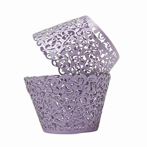 ke Papier Backförmchen 6 Farbe Cupcake Wrappers Kuchen Pappbecher Verpackungen für Hochzeit Geburtstag Party ()